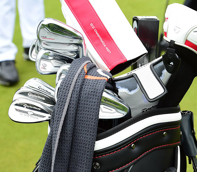 Jason Day plays a mixed bag of TaylorMade irons.
