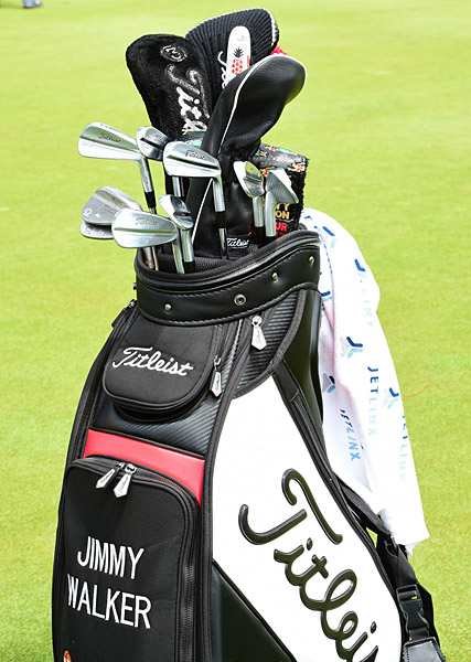 Jimmy Walker's golf clubs.