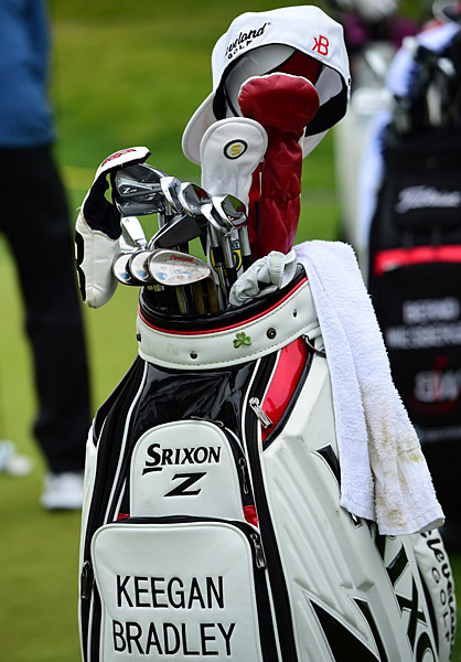 Keegan Bradley's golf bag.