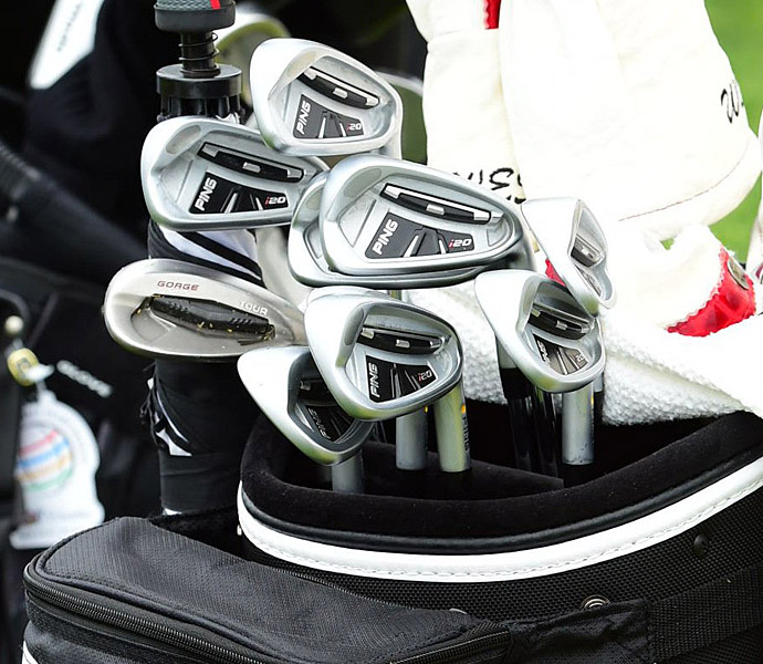 Lee Westwood uses old Ping i20 irons.