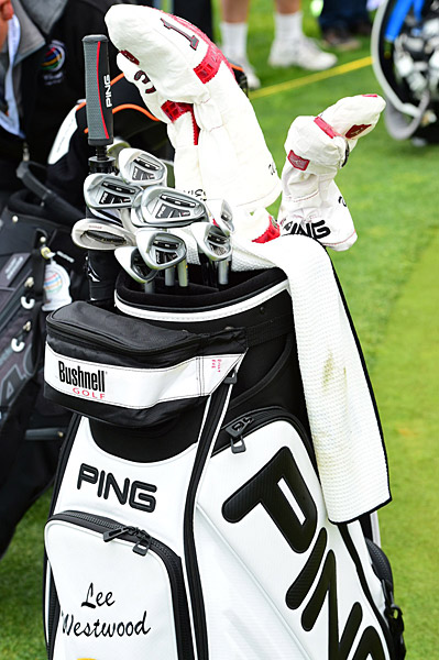Lee Westwood's golf bag.