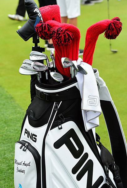 Miguel Angel Jimenez's golf bag.