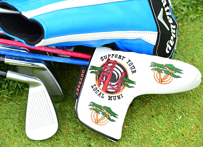 Many players were sporting this Odyssey putter headcover at TPC Harding Park.