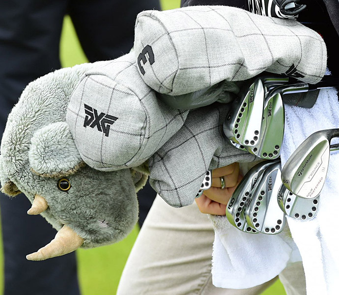 Ryan Moore is sporting a prototype PXG driver and irons in 2015.