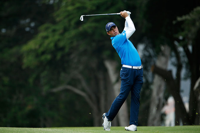 Gary Woodland won in the morning over Marc Leishman 2&1.