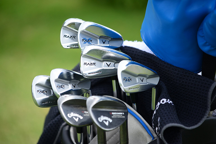 Sang-Moon Bae has both Callaway Razr X Muscleback irons and Callaway Mack Daddy 2 wedges in his bag.