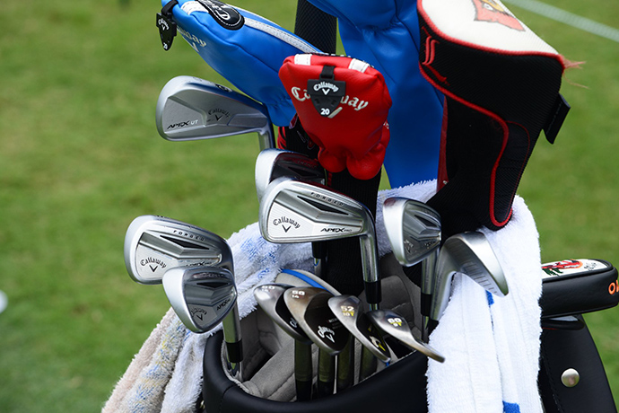 Canadian Adam Hadwin is hitting Callaway Apex Pro irons and four Callaway wedges.