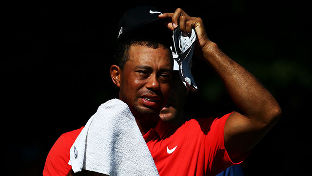 Tiger Woods posted his worst total score ever at the Players Championship.