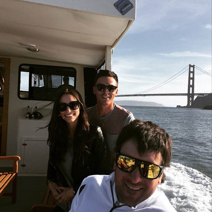 """Romantic boat tour with @therealrickiefowler!! #ImThe3rdWheel"""