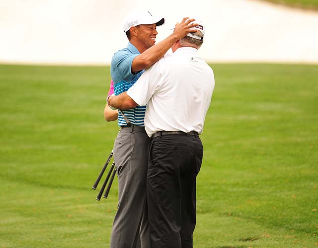 Reunited, and it felt so good. Tiger and O'Meara played a couple of practice rounds together at this year's Masters.