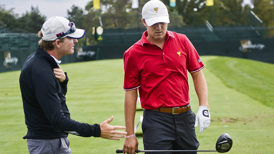 """The only swing coach Spieth has known, McCormick says his student """"has a lot of Hollywood in him."""""""
