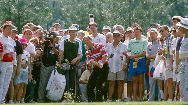 Jack Nicklaus, then 50 years old, was still in the hunt on Sunday.