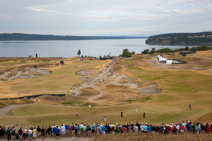 A view of Chambers Bay, which made its debut as a U.S. Open host this summer.