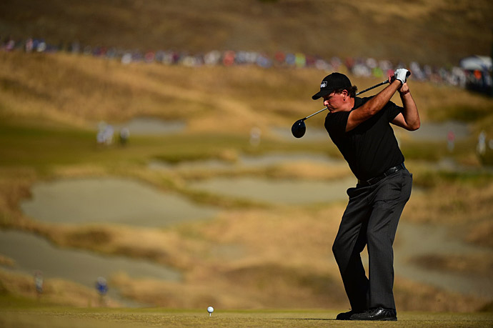 Phil Mickelson shot a disappointing 74 to fall to three over.