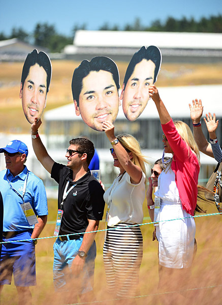 Day had many admirers in the galleries at Chambers Bay during the third round.