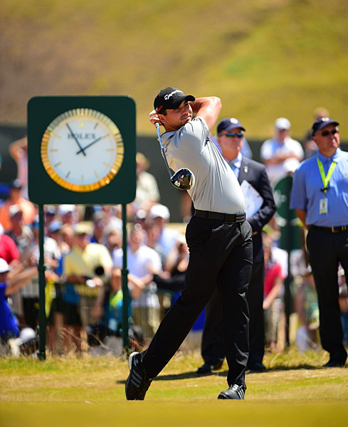 Jason Day played the third round despite collapsing on his final hole on Friday.