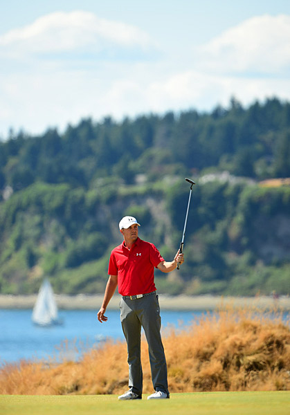 Spieth made long birdie putts on the second and third holes.