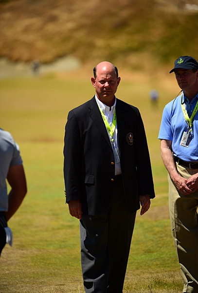 USGA executive director Mike Davis on the course during round 3.
