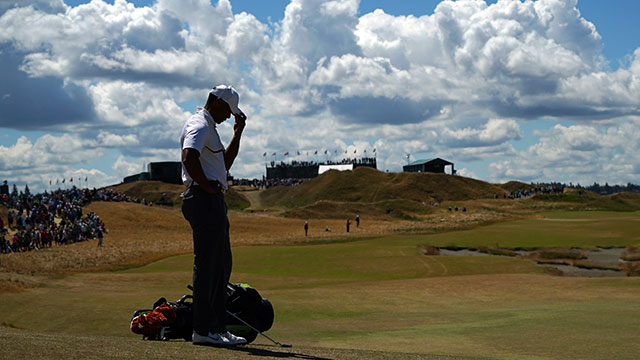 Tiger Woods shot 80-76 in his first two rounds to miss the cut.