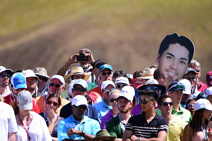 Day's biggest fans were back on the course.