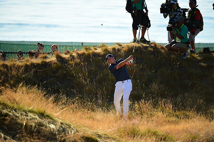 The resulting double bogey, along with Dustin Johnson's birdie left the tournament tied heading to the final hole.