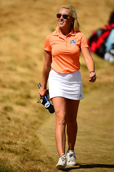 LPGA pro Natalie Gulbis was on site for the final round.