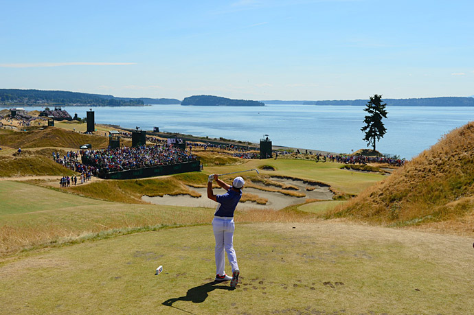 Through 13 holes, McIlroy was six under on the day and two under for the tournament.