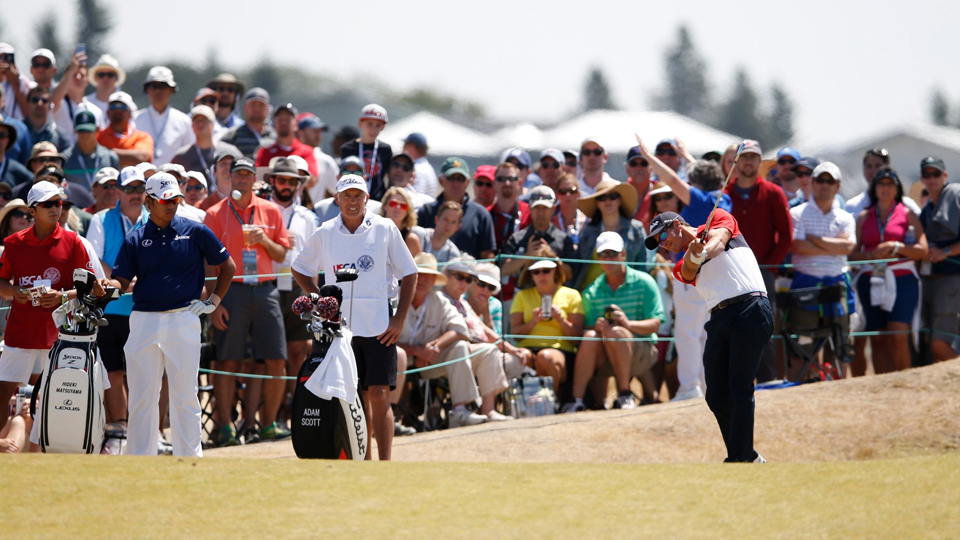 Adam Scott fired a 6-under 64 during his final round of the U.S Open.