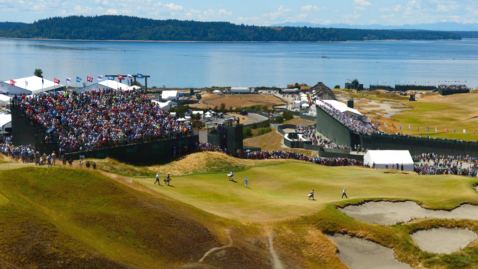 The view from the par-3 9th tee was spectacular, but as a whole Chambers Bay was anything but fan-friendly.
