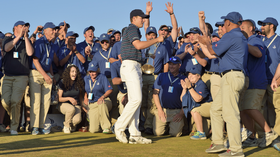 When it was over, Spieth saluted the fans of the Pacific Northwest, then celebrated with tournament volunteers.