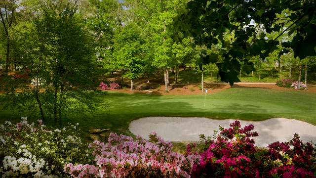 The ninth hole at the Dancing Rabbit Golf Club Azalea Course.