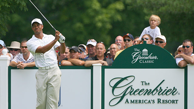 Tiger Woods at the 2012 Greenbrier Classic.