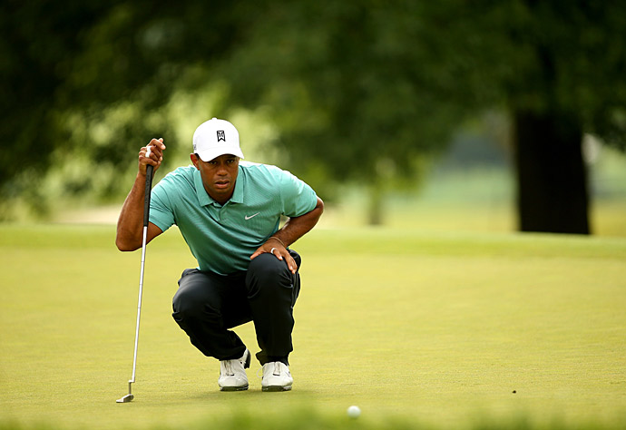 Woods made seven birdies on the day against one bogey and a double bogey.