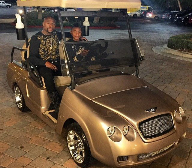 Floyd Mayweather's Bentley Golf Cart