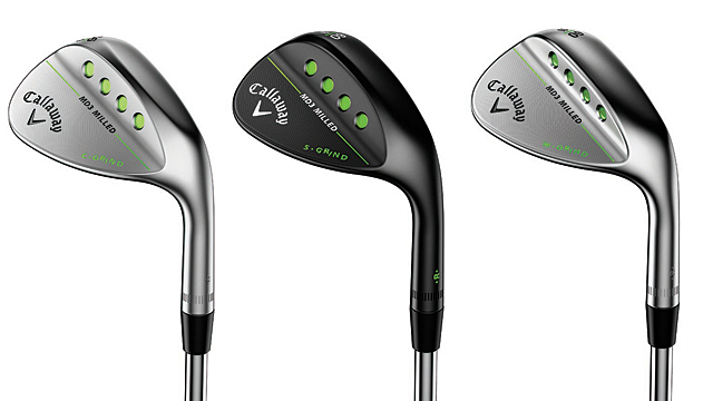 From left to right: Callaway MD3 Milled Wedge C-Grind, S-Grind, W-Grind