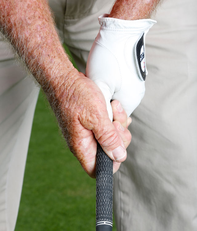 A strong grip for the under-golfer.
