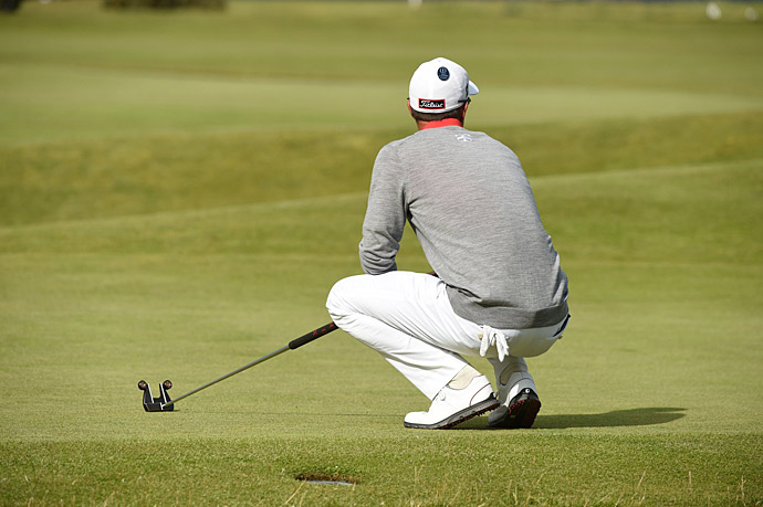 Adam Scott made a run on Friday, shooting a 67 to reach seven under for the week.