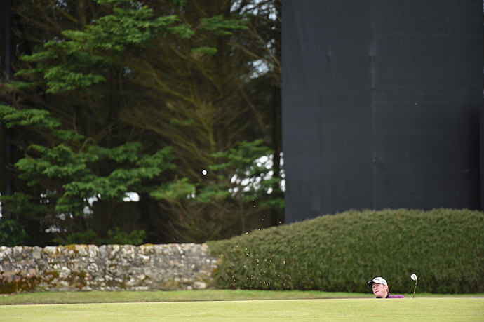 Jamie Donaldson during the second round at the Old Course.