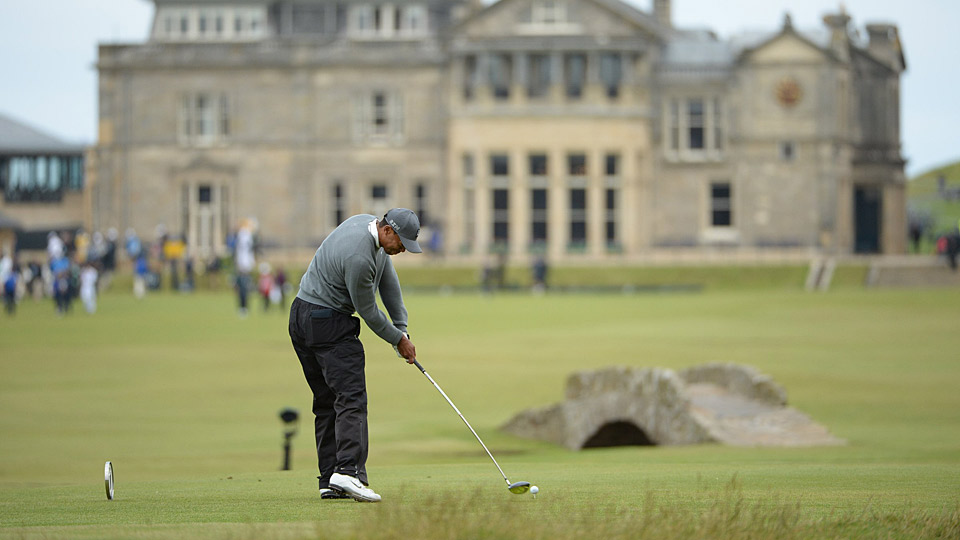 Tiger Woods during the first round of the 2015 Open Championship at St. Andrews.