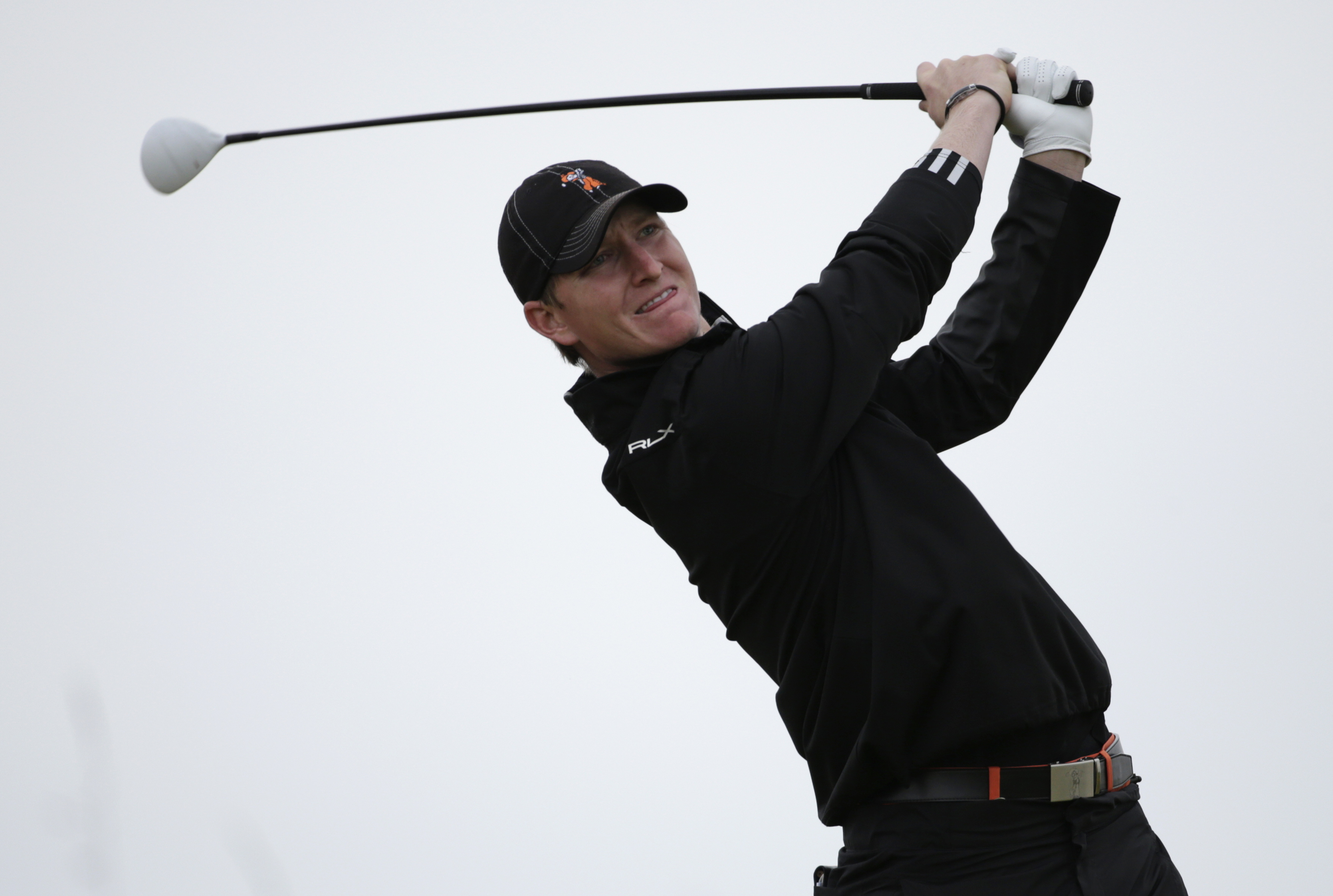 Jordan Niebrugge plays from the sixth tee during the final round at the 2015 British Open.
