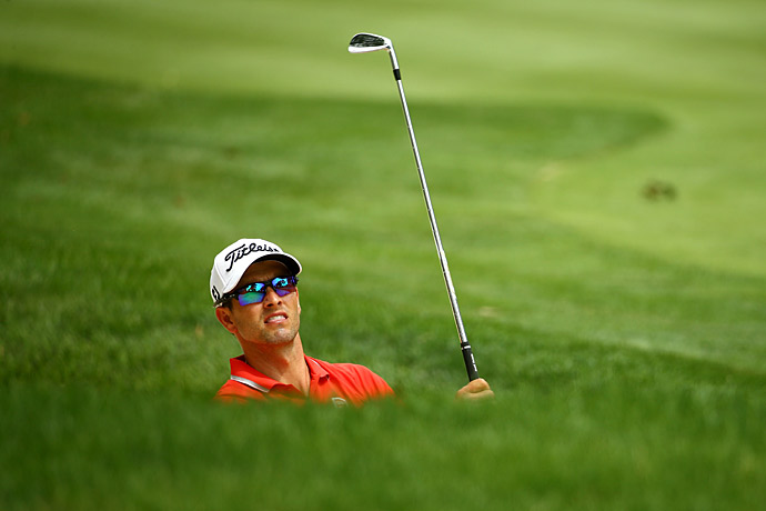 Adam Scott struggled to a 72 on Thursday.