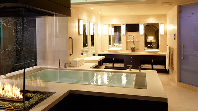 The bathrooms in the Eau de Vie Suite feature the latest products from Kohler Co.