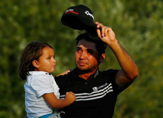 Jason Day, your 2015 PGA Champion, with son Dash.