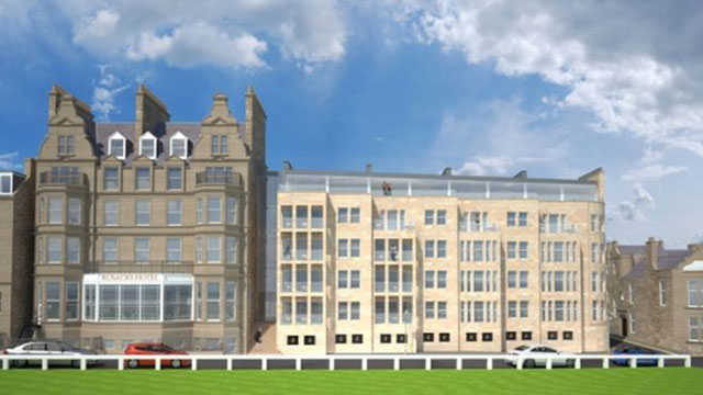 The proposed addition to the Rusacks Hotel.