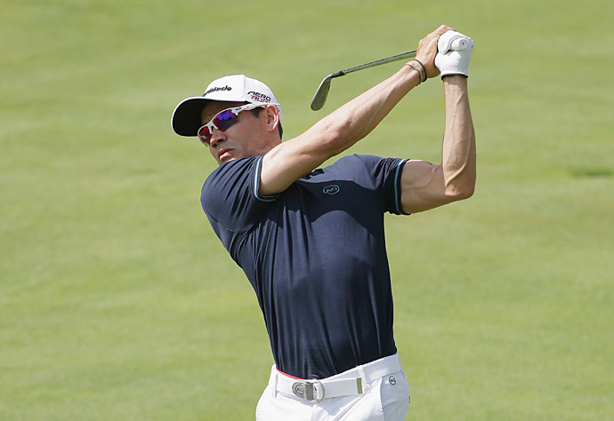 Camilo Villegas also had a 65 on day 1.