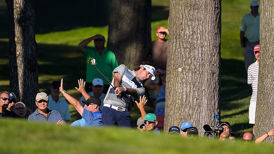 Bubba Watson during the first round of the 2015 Barclays.