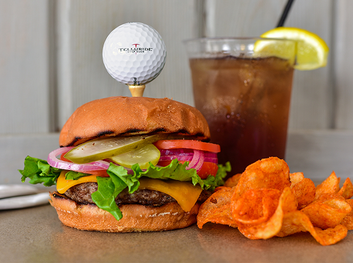 The Halway House Burger from Telluride Golf Club.