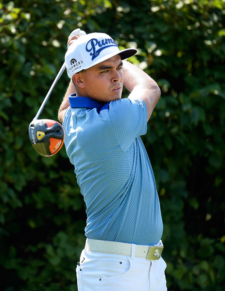 Rickie Fowler had an up-and-down round on Thursday.
