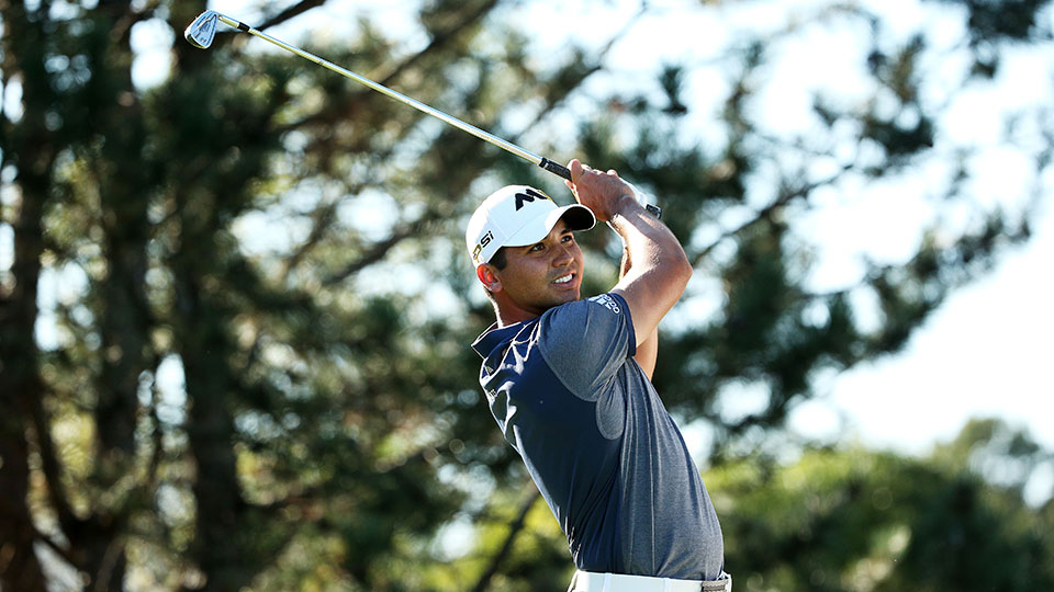 Jason Day of Australia plays his shot from the 15th tee during the Final Round of the BMW Championship at Conway Farms Golf Club on September 20, 2015 in Lake Forest, Illinois.