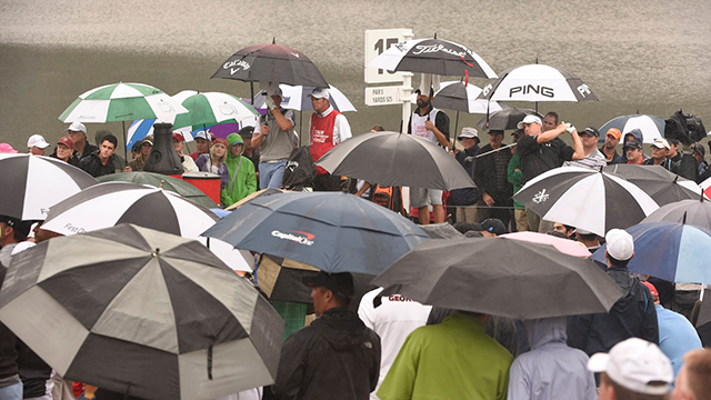 Spotty weather didn't dampen the spirits of fans in Atlanta. They showed up in force to follow the biggest star in golf.